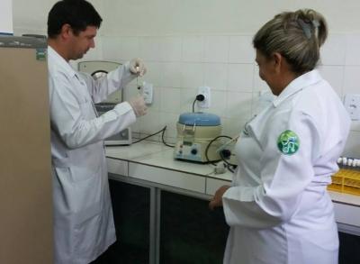 Reabertura do  laboratório de exames