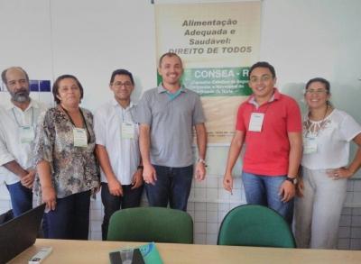 Secretário de Educação e nutricionista do município participaram do Encontro do Território do Trairí que aconteceu no município de Santa Cruz no IFRN
