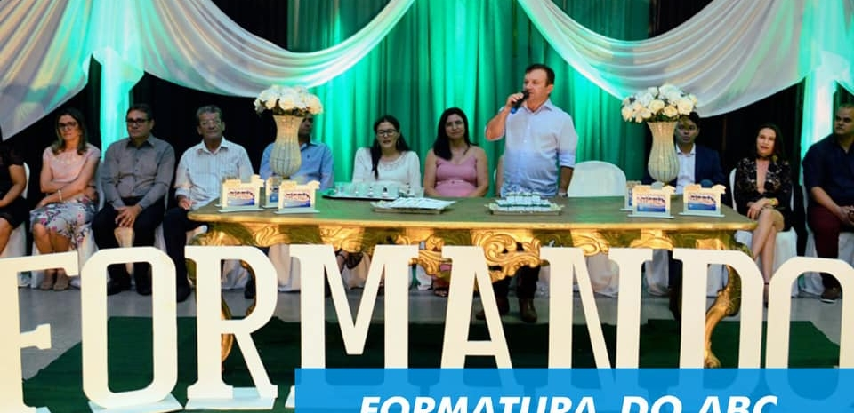 Prefeitura realiza formatura da turma do ABC da E. M. Profª Maria José Victor.