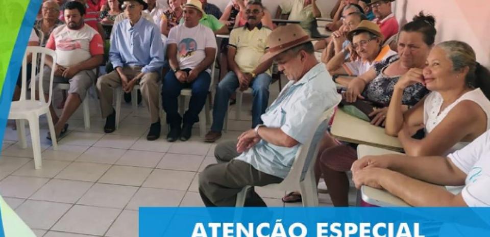 A prefeitura realizou mais um dia de atividades com os  idosos em nossa cidade.